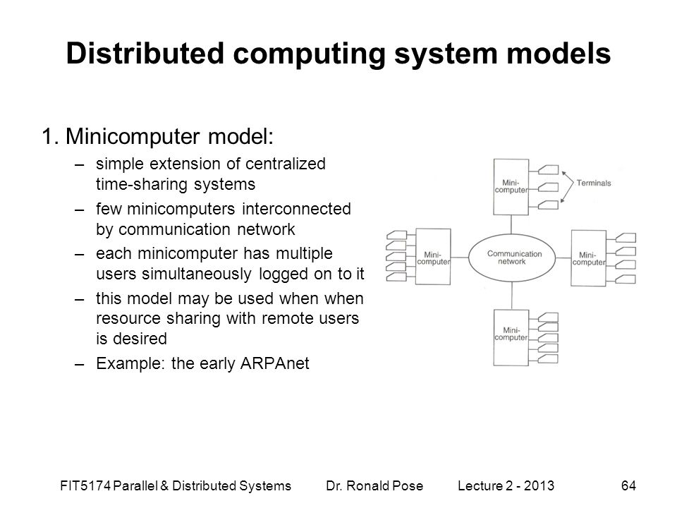 Distributed computing system models