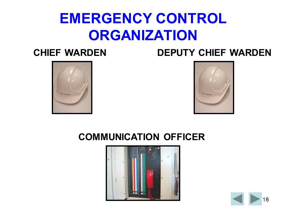 EMERGENCY CONTROL ORGANIZATION