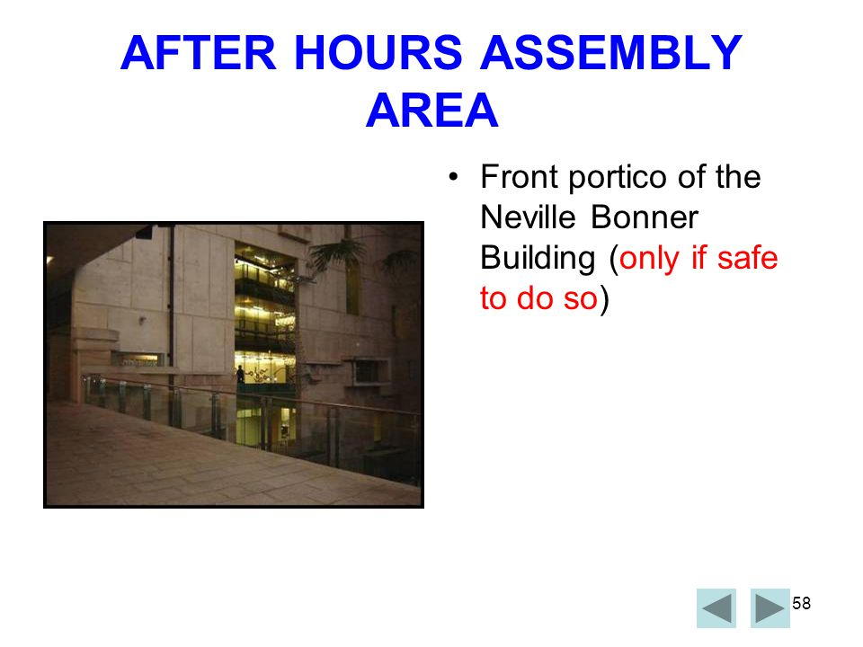 AFTER HOURS ASSEMBLY AREA