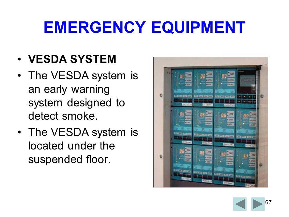 EMERGENCY EQUIPMENT VESDA SYSTEM