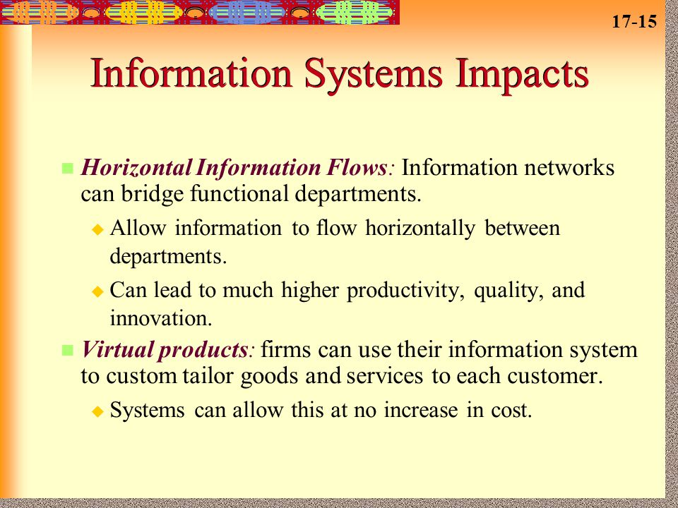 Information Systems Impacts