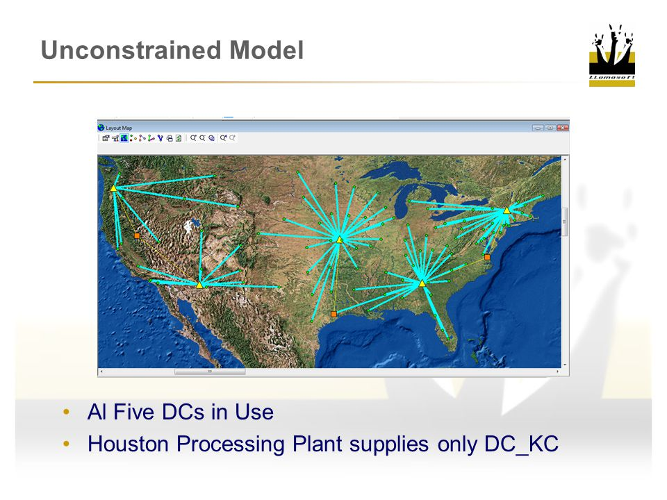 Unconstrained Model Al Five DCs in Use