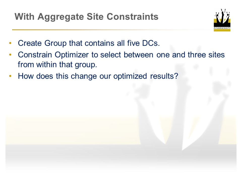 With Aggregate Site Constraints