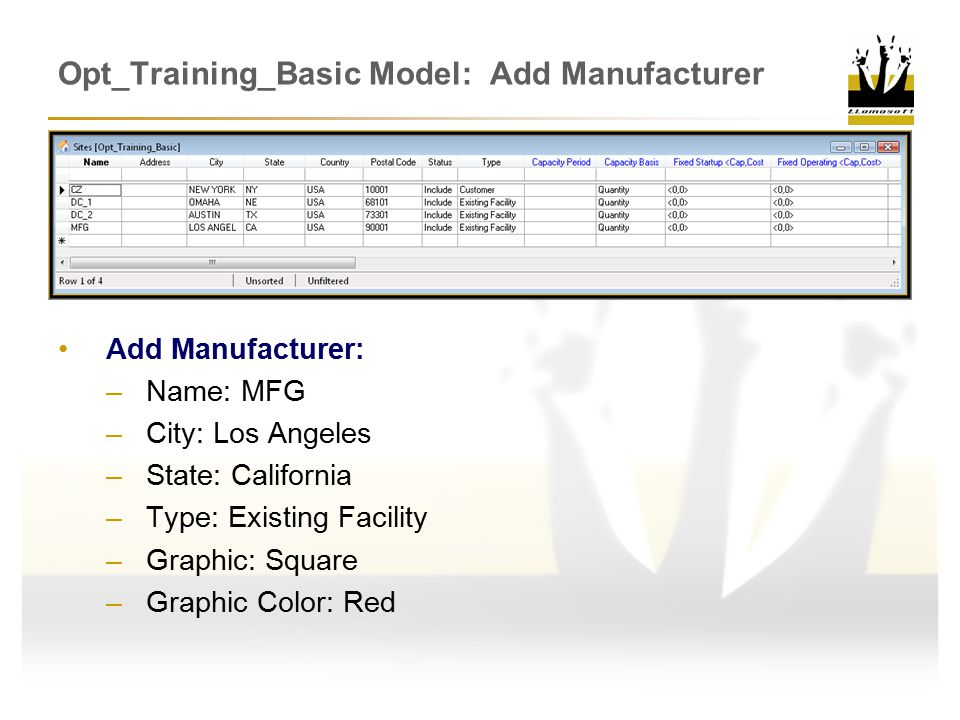 Opt_Training_Basic Model: Add Manufacturer