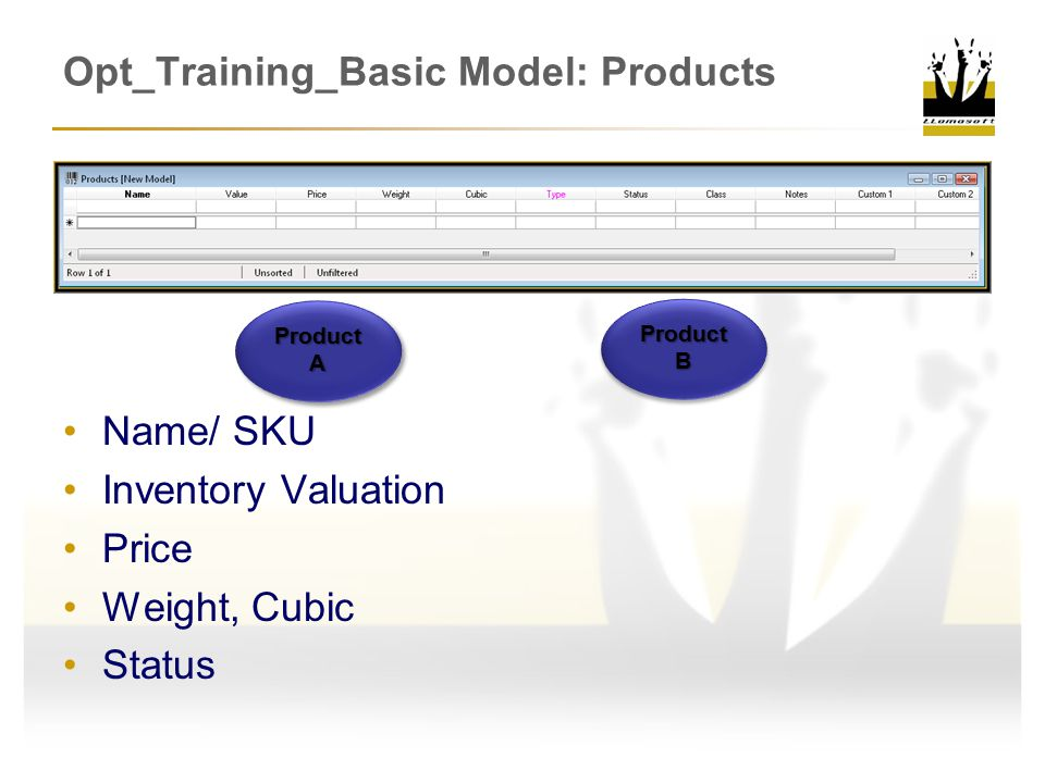 Opt_Training_Basic Model: Products