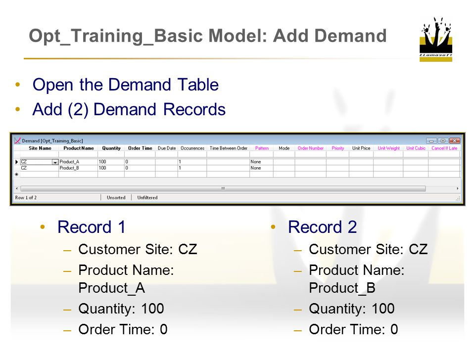 Opt_Training_Basic Model: Add Demand
