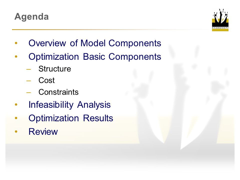 Overview of Model Components Optimization Basic Components
