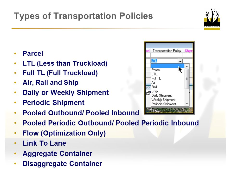 Types of Transportation Policies