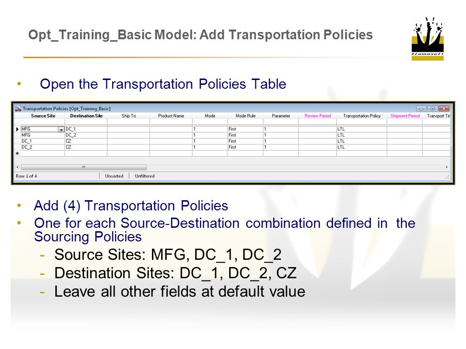 Opt_Training_Basic Model: Add Transportation Policies