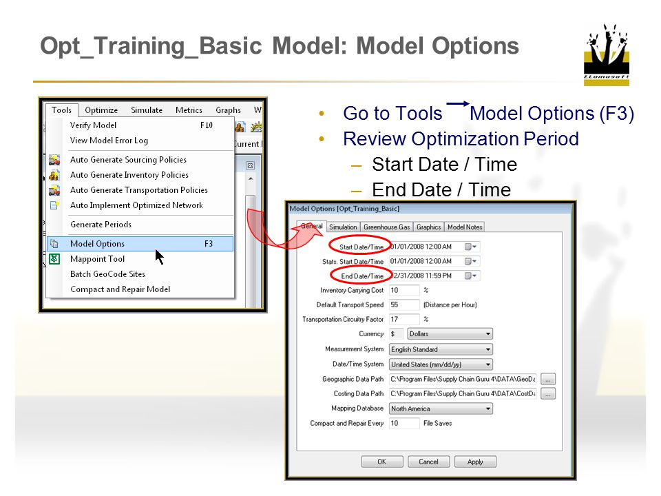 Opt_Training_Basic Model: Model Options