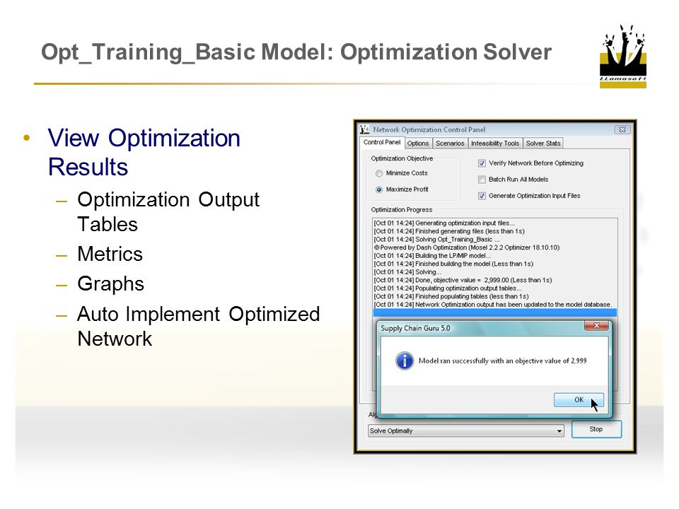 Opt_Training_Basic Model: Optimization Solver