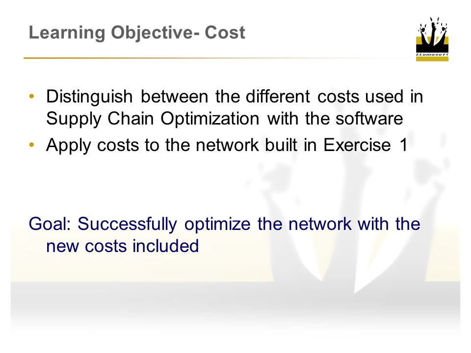 Learning Objective- Cost