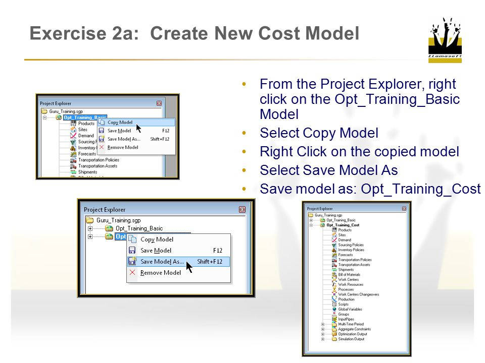 Exercise 2a: Create New Cost Model