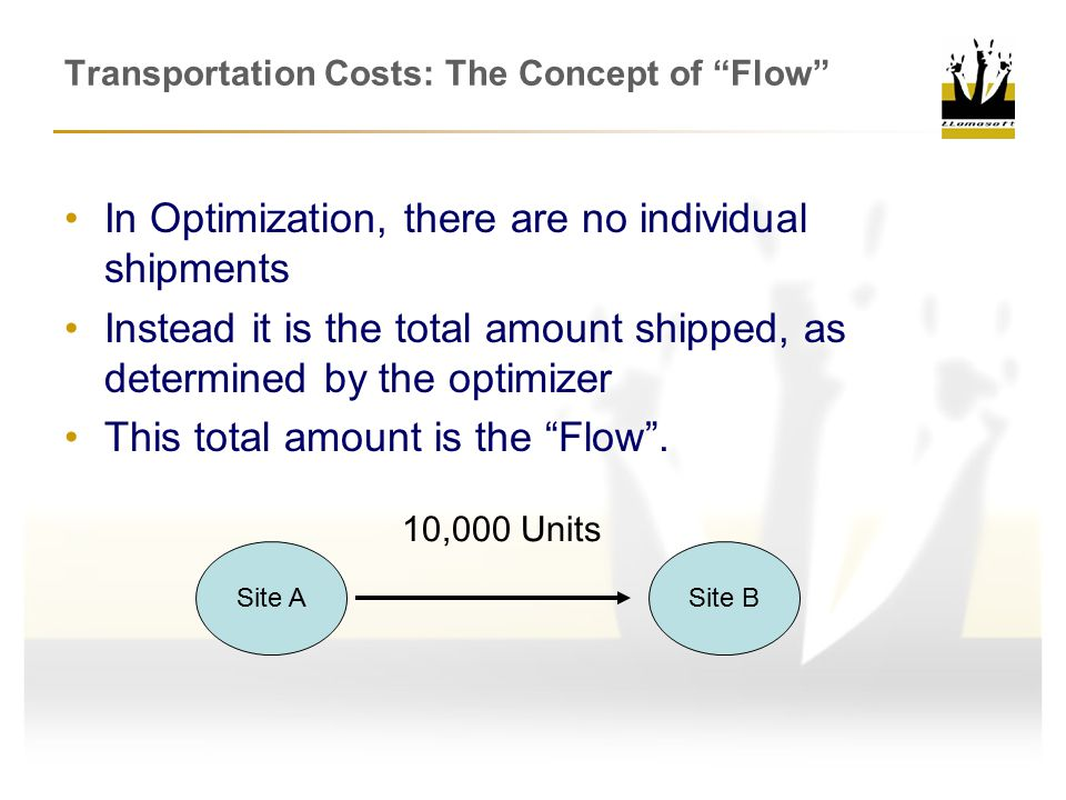 Transportation Costs: The Concept of Flow