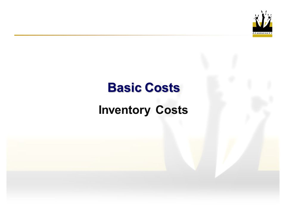 Basic Costs Inventory Costs