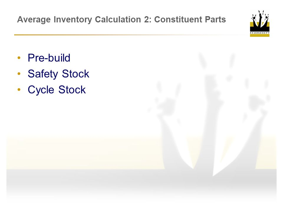 Average Inventory Calculation 2: Constituent Parts