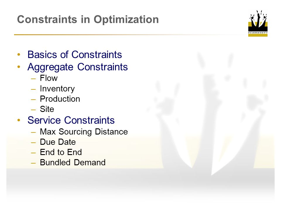Constraints in Optimization