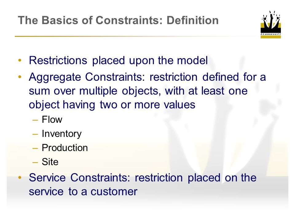 The Basics of Constraints: Definition
