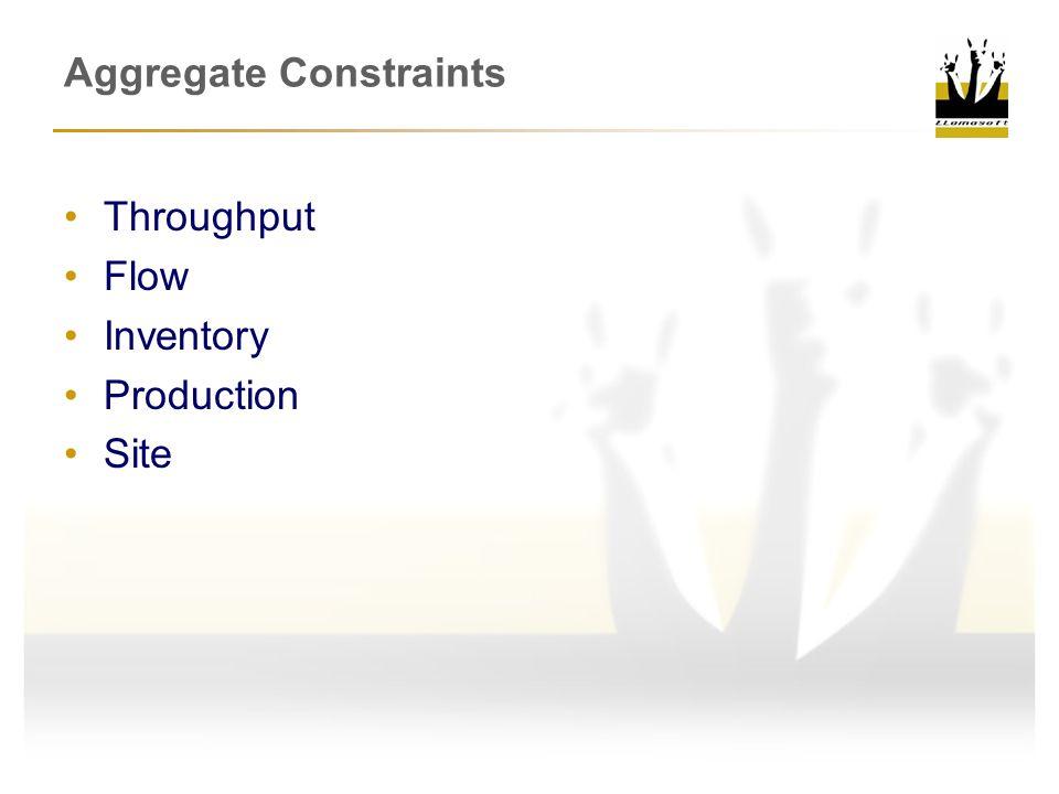 Aggregate Constraints