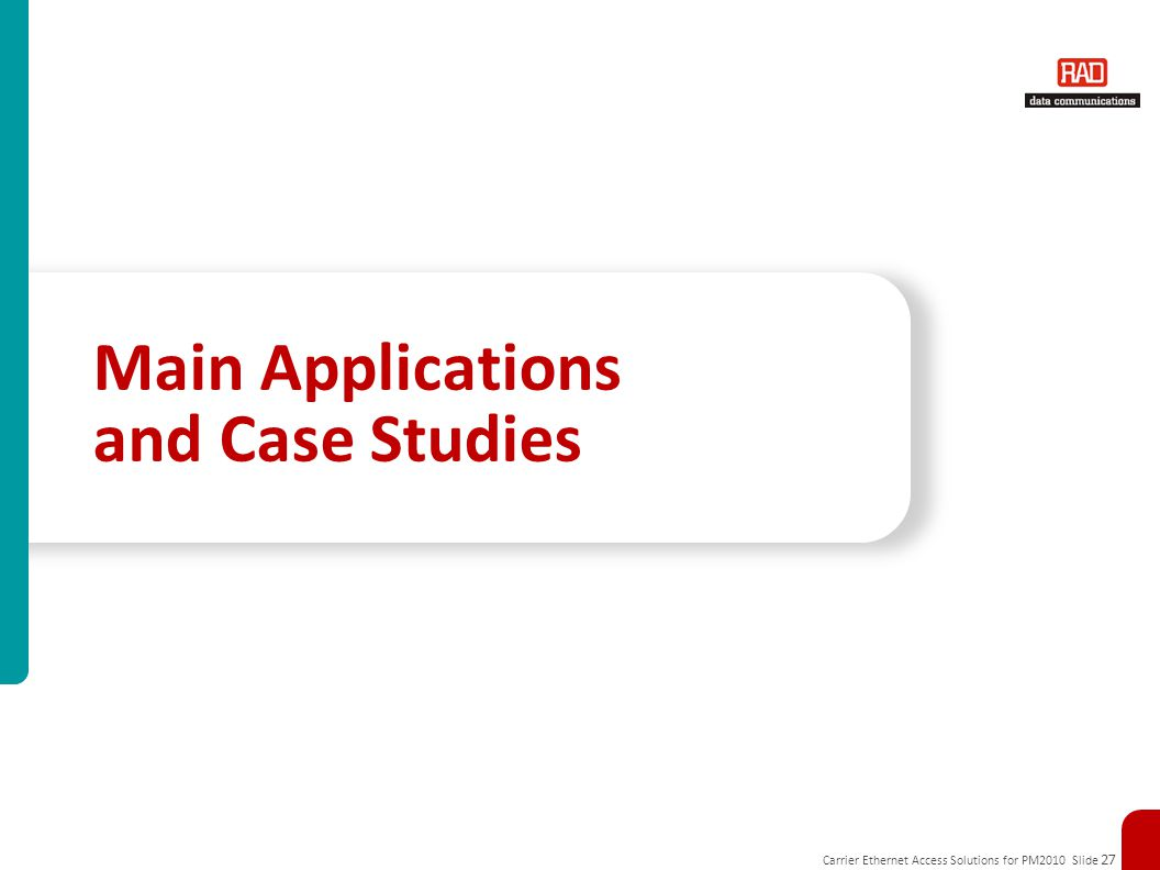 Main Applications and Case Studies
