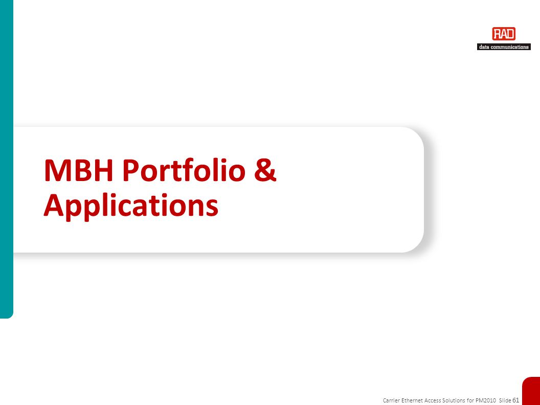MBH Portfolio & Applications