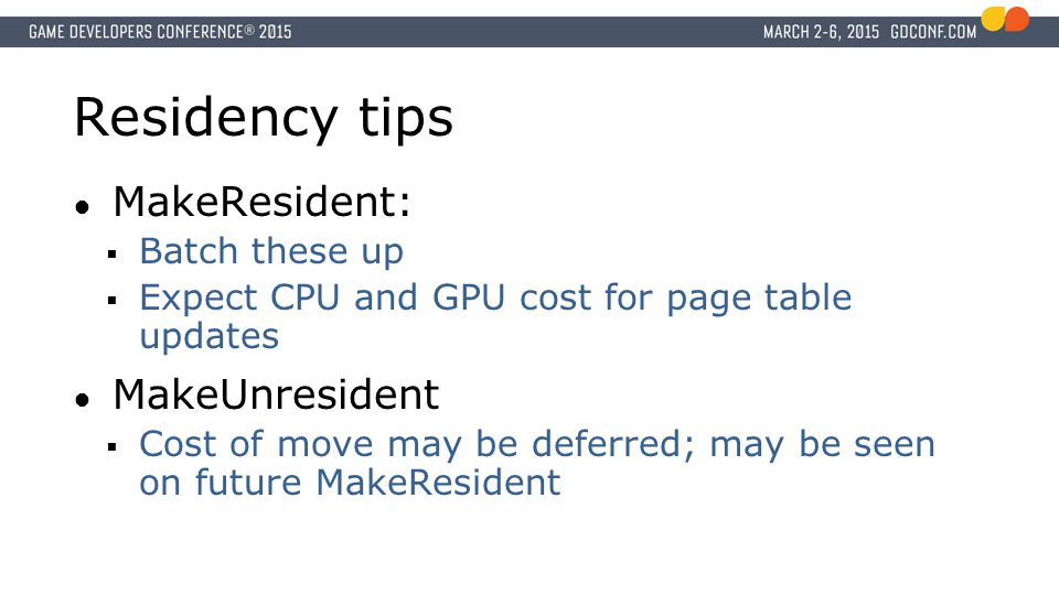 Residency tips MakeResident: MakeUnresident Batch these up