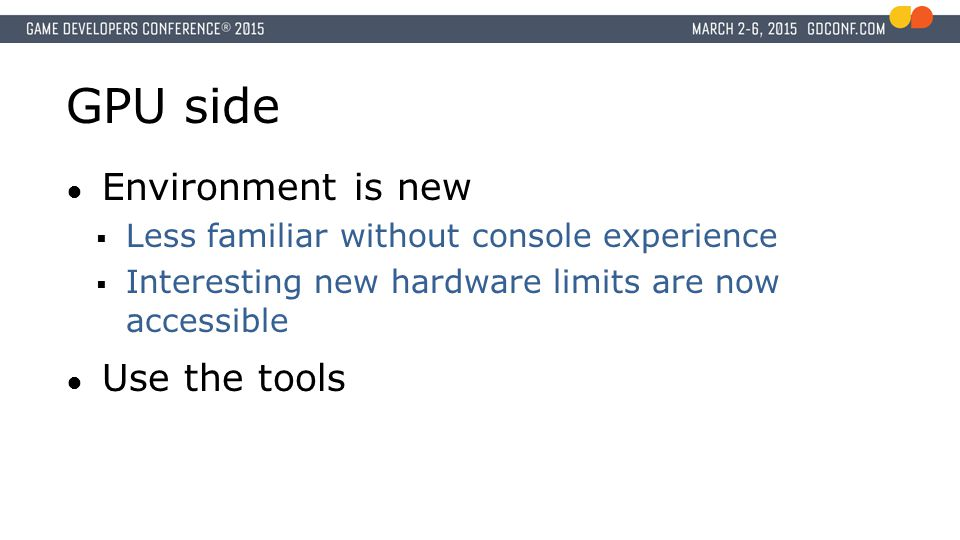 GPU side Environment is new Use the tools