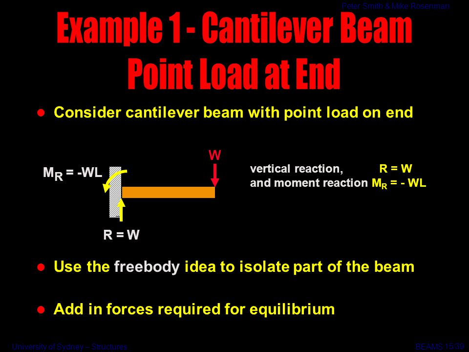 Example 1 - Cantilever Beam