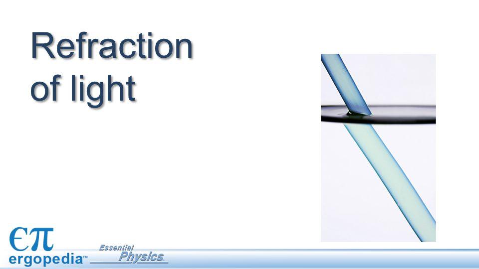 Refraction of light
