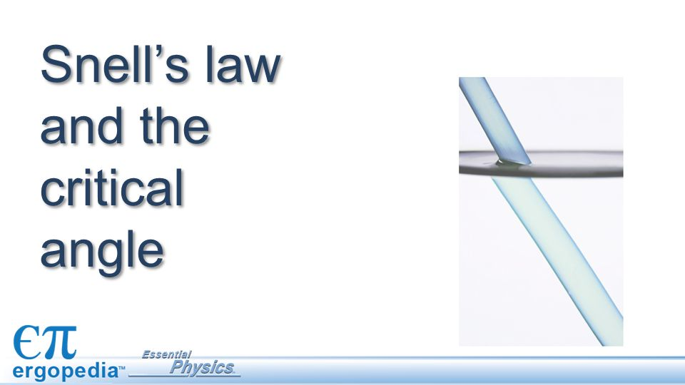 Snell's law and the critical angle