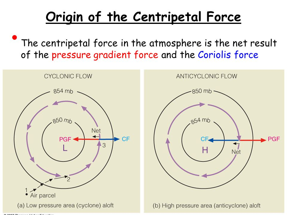 Origin of the Centripetal Force