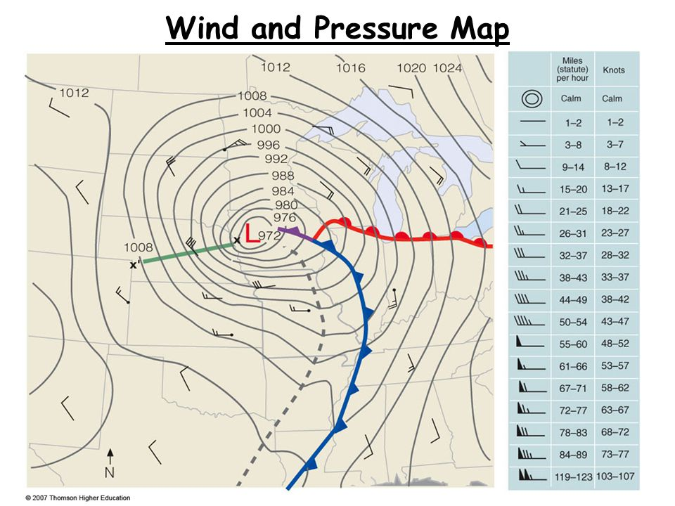 Wind and Pressure Map