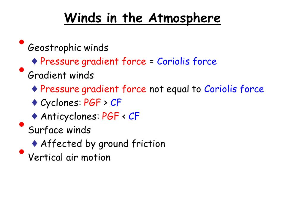 Winds in the Atmosphere