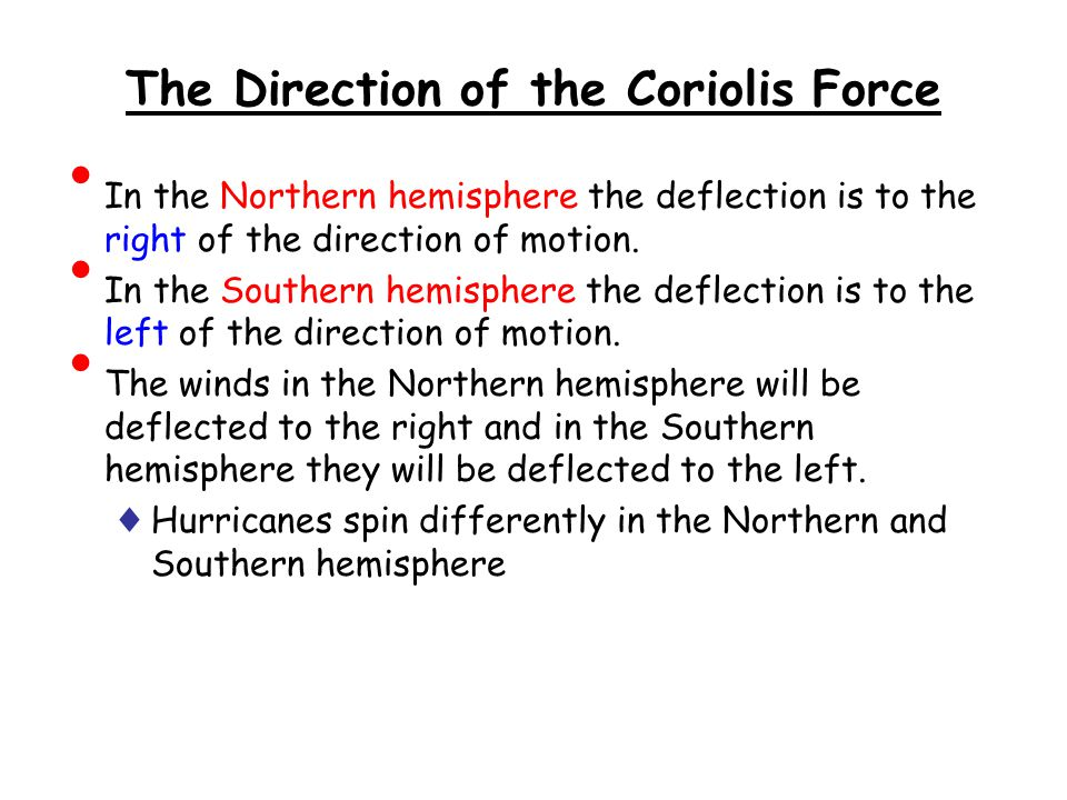 The Direction of the Coriolis Force