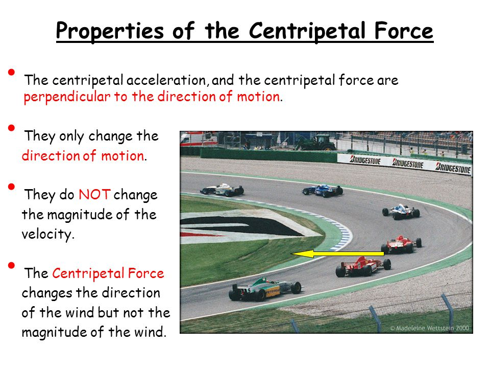 Properties of the Centripetal Force