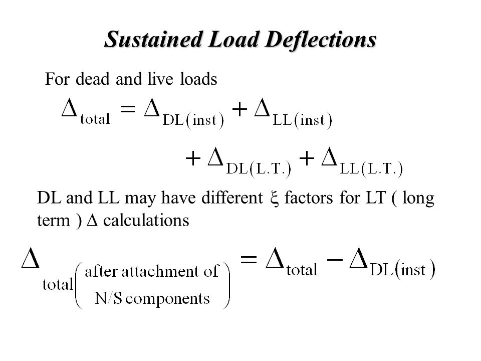 Sustained Load Deflections