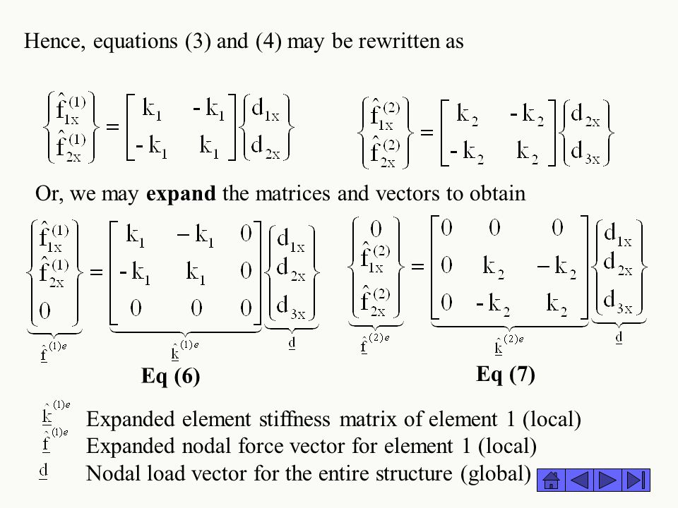 Hence, equations (3) and (4) may be rewritten as