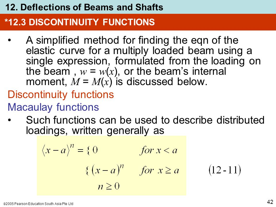 *12.3 DISCONTINUITY FUNCTIONS