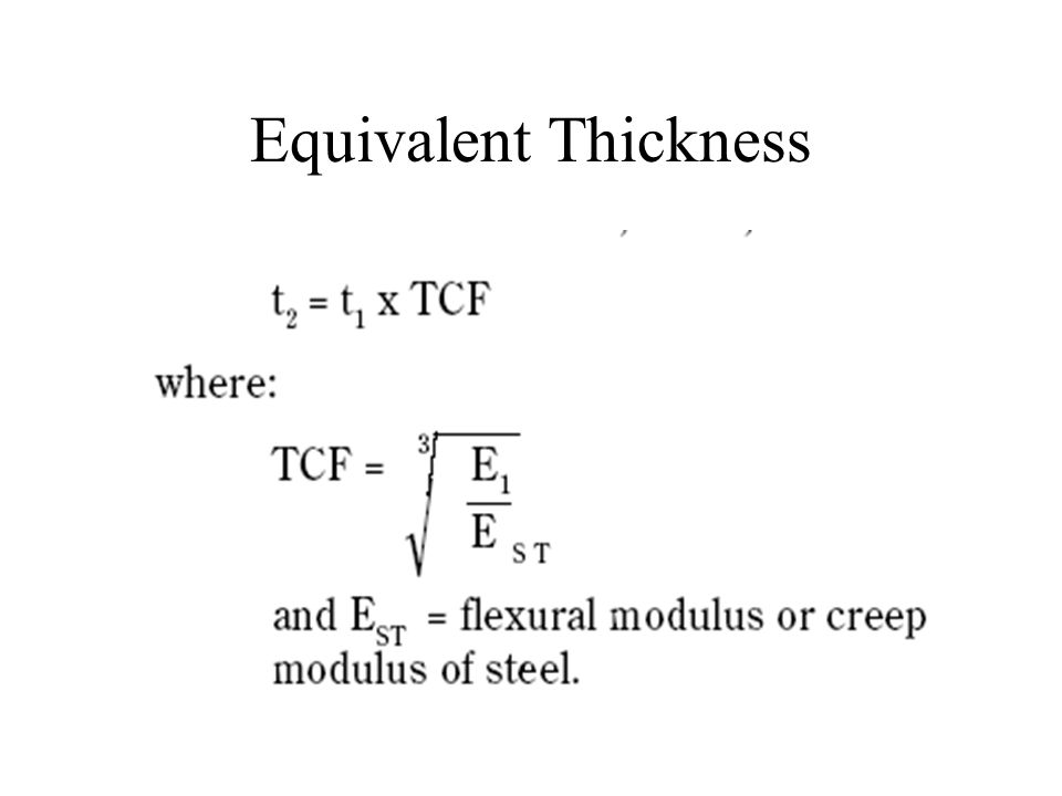 Equivalent Thickness