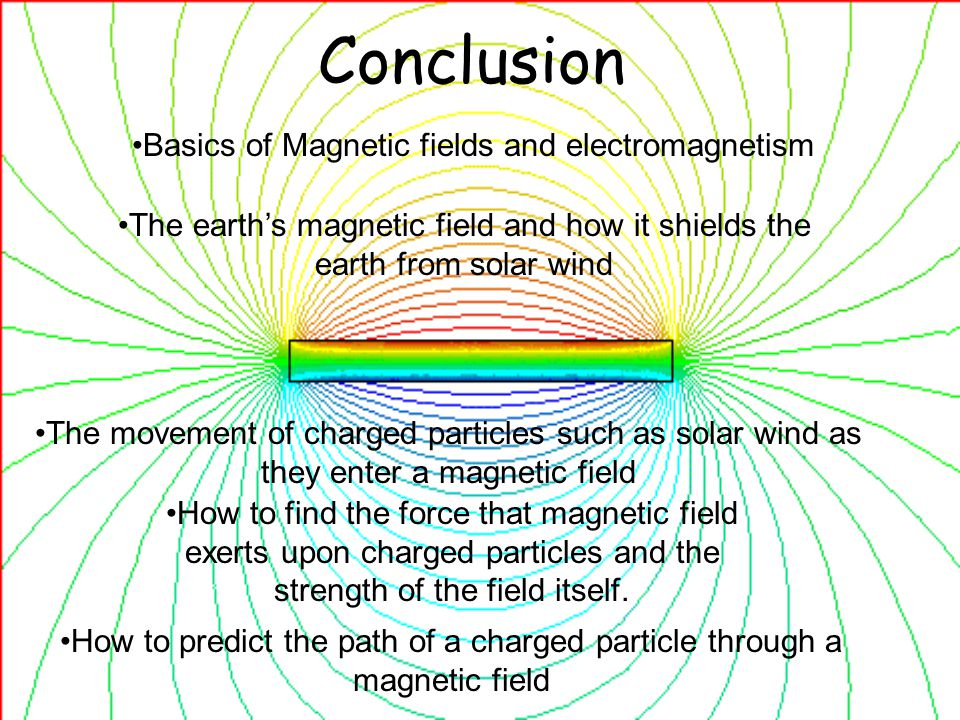 Conclusion Basics of Magnetic fields and electromagnetism