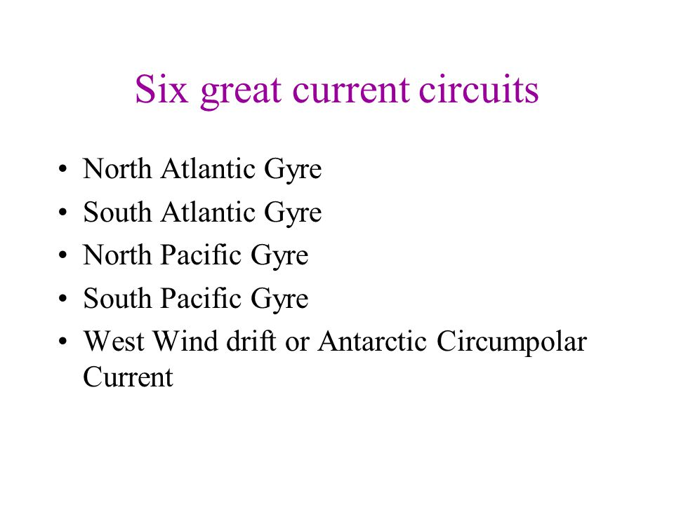 Six great current circuits
