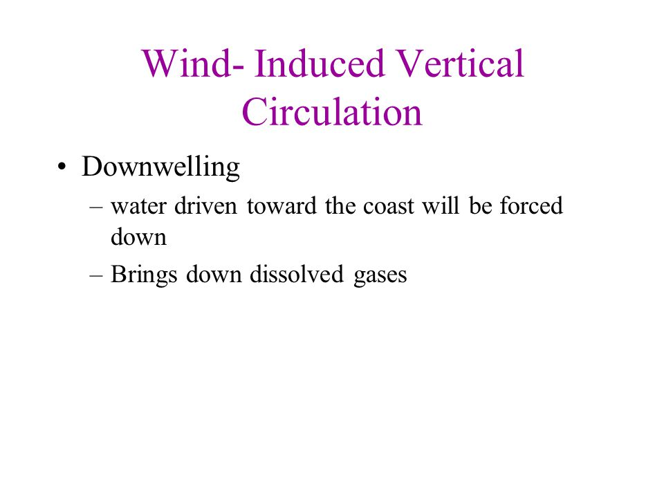 Wind- Induced Vertical Circulation