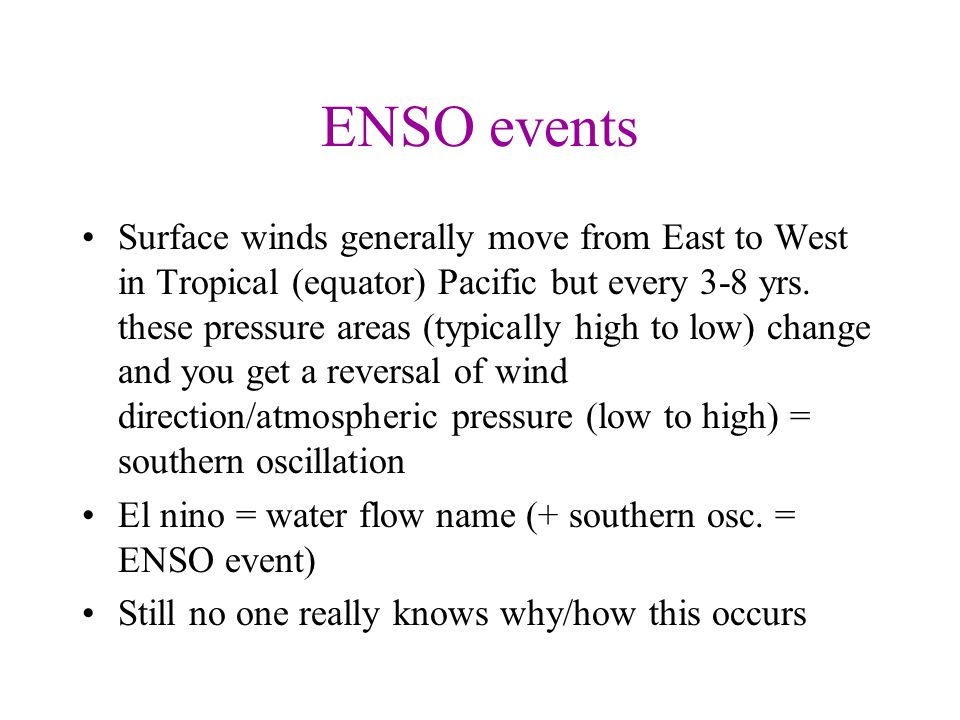 ENSO events