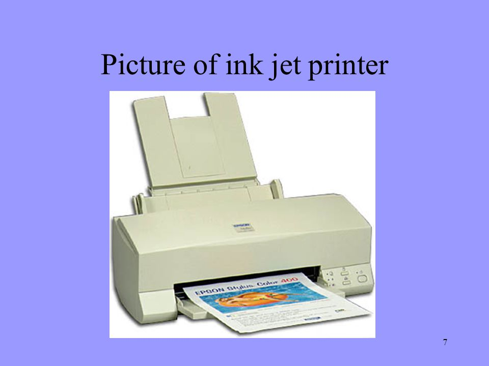 Picture of ink jet printer