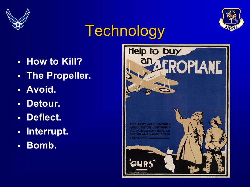 Technology How to Kill The Propeller. Avoid. Detour. Deflect.