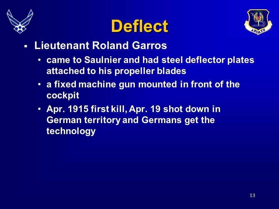 Deflect Lieutenant Roland Garros