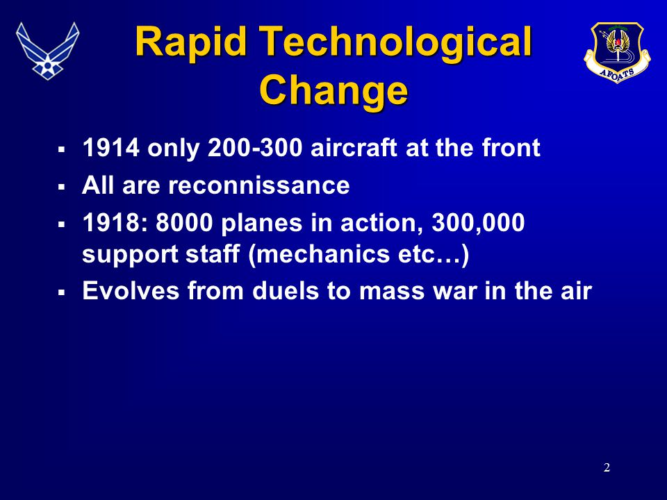 Rapid Technological Change