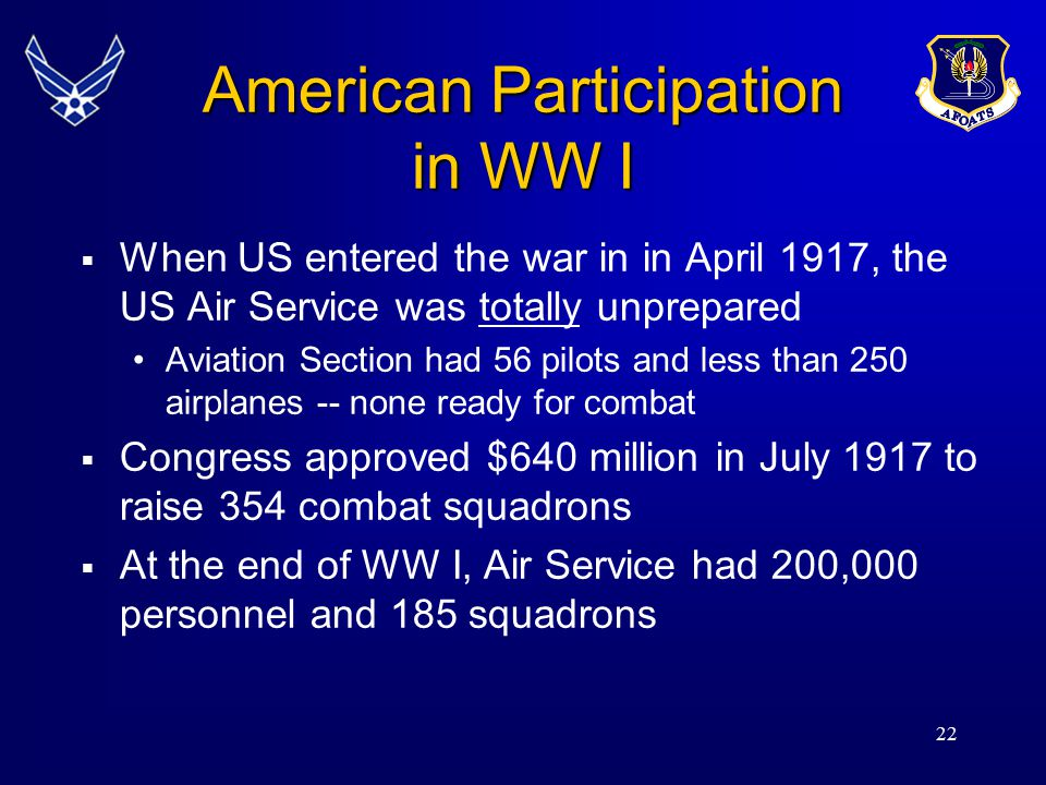 American Participation in WW I