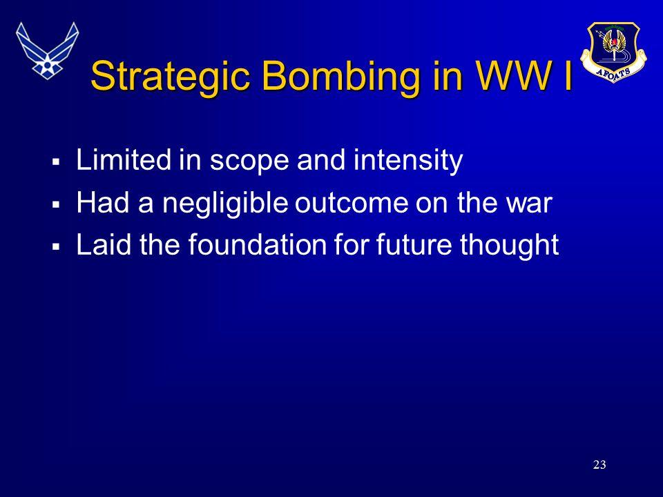 Strategic Bombing in WW I