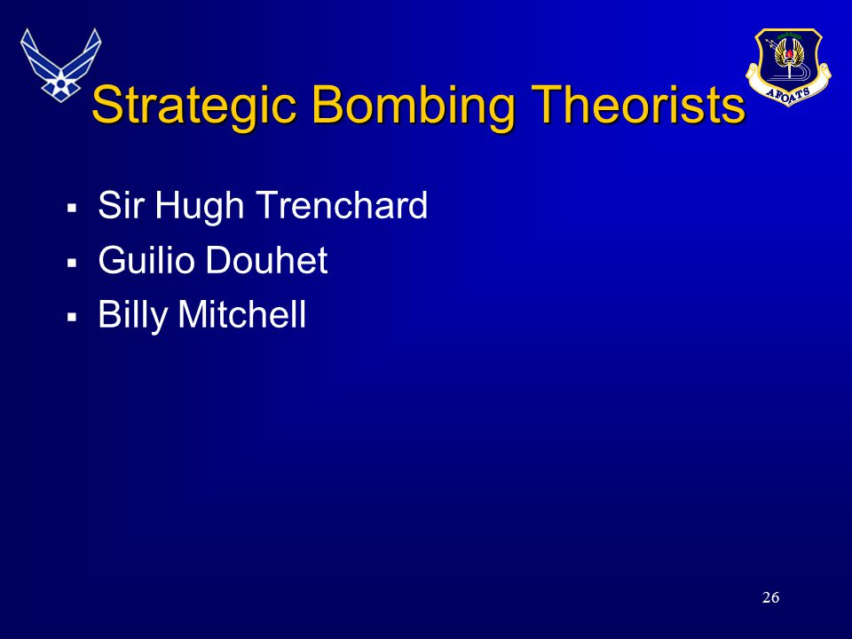 Strategic Bombing Theorists